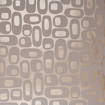 Os Taupe Foil Mid Century Wallpaper For Walls Double Roll By Romosa Wallcoverings Ll7330