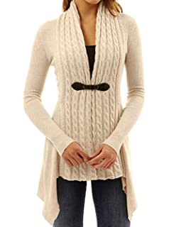 884019e36 Aleumdr Mujer Vestido de Punto con Botón Suéter Cuello Redondo Jerséis  Casual para Mujer Size S-L XY27834
