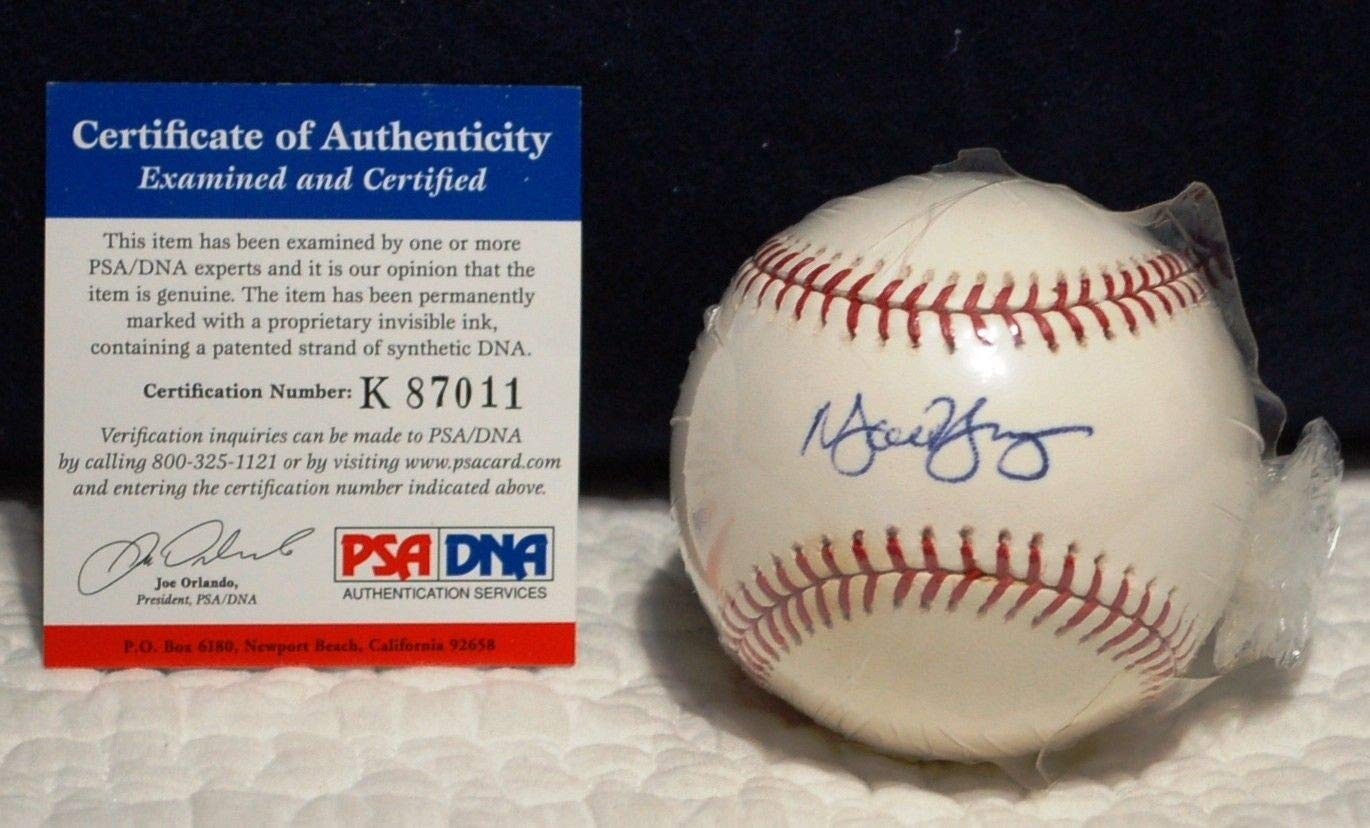 Michael Young Autographed Signed MLB Baseball PSA/DNA Authentic