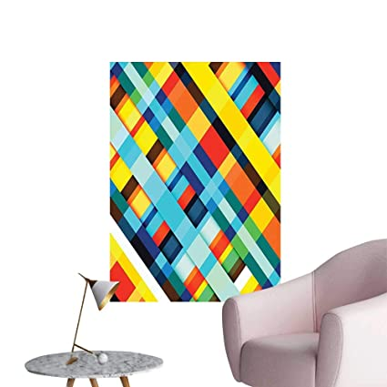 Wall Painting Lines Stripes With Diagonal Elements Retro Layout With