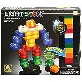 Light Stax Illuminated Blocks - Led Light Up Building Blocks - 36 Piece Set