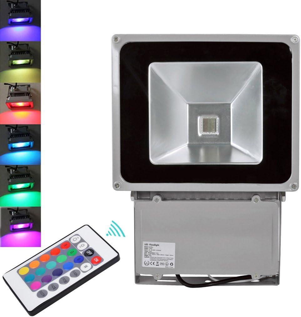 Proyector LED de 100 W de color RGB LED RGB luz LED lámpara de ...