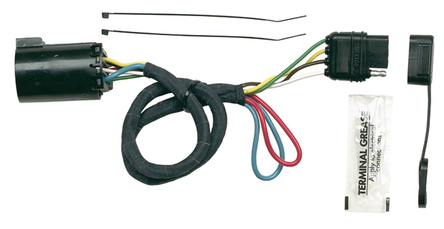 Hopkins 41155 Plug In Simple Vehicle Wiring Kit Automotive Custom Fit Trailer Hitch No Converter 4 Flat 7