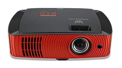 Acer Predator Z650 - Proyector para Gaming (Full HD 1080p, DLP 3D, Brillo de 2.200 lumenes, 20.000:1, HDMI, Bluetooth, ST), Rojo y Negro