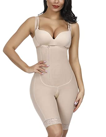 1a9fedb5fe8 Lover-Beauty Seamless Body Shaper Thigh Slimmer Panty Tummy Control  Shapewear Invisible Bodysuit Beige S