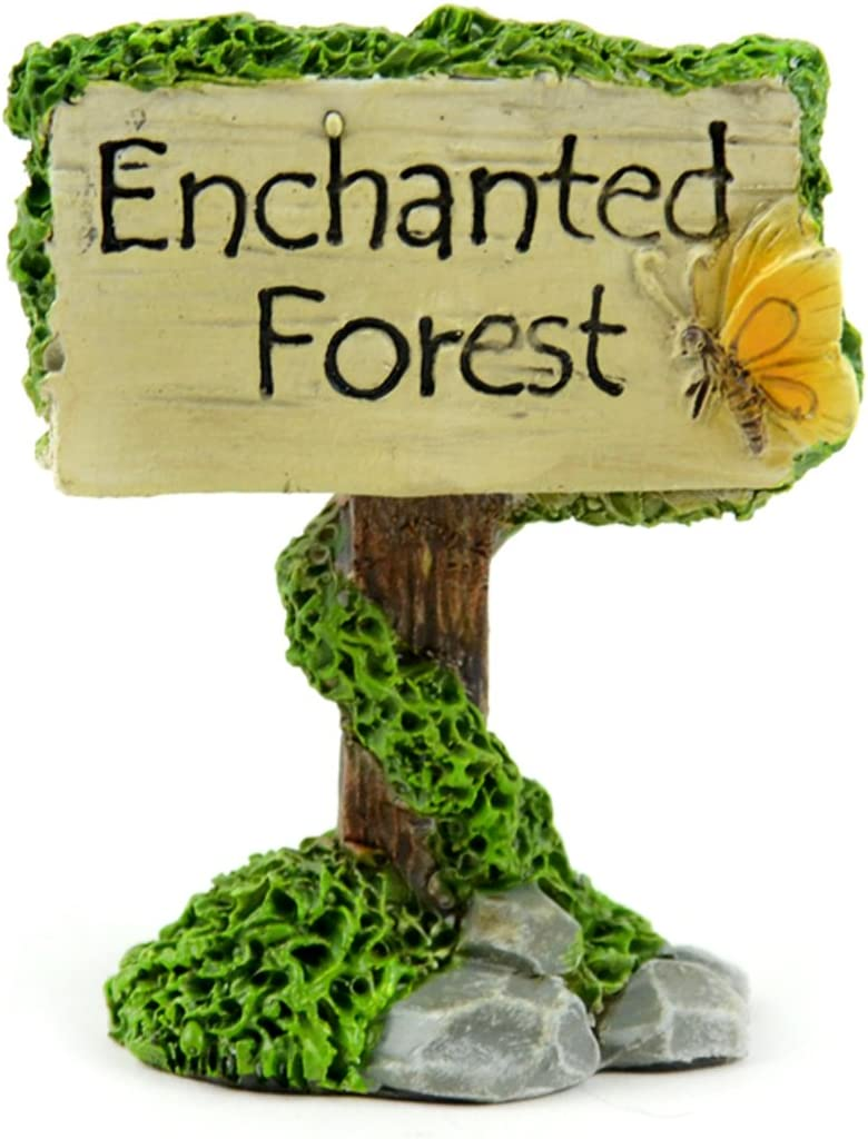 Touch of Nature 55612 Fairy Garden Enchanted Forest Sign, 2.5""