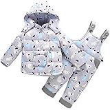 0e79a5277 CADong Unisex Baby Toddler Winter Snowsuit Cartoon Ski Snowpants ...