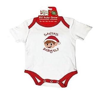 Elf Baby Grow - Vêtements de Noël - Cadeaux pour bébés (0-6M, Little ... 225bd731980
