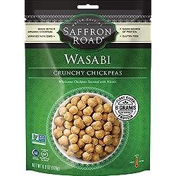 Saffron Road Crunchy Chickpeas, Wasabi, 6 Ounce