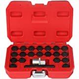 BELEY 22pcs Wheel Lock Key Removal Kit for BMW Series, Wheel Anti-Theft Lock Lug Nuts Screw Remover Socket Tool Set