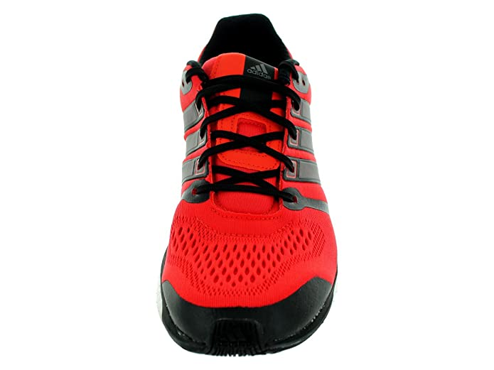 Amazon.com | adidas Men's B26735 Adistar Boost ESM Shoes, Red/Black/Sliver, 9 | Road Running