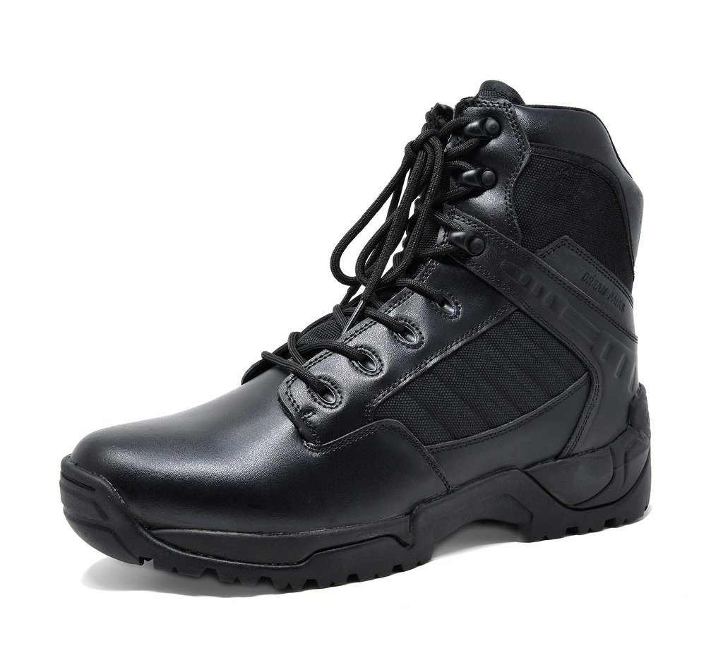 DREAM PAIRS Men's Pioneer Black 6'' inches Military Tactical Work Boots Size 9.5 M US