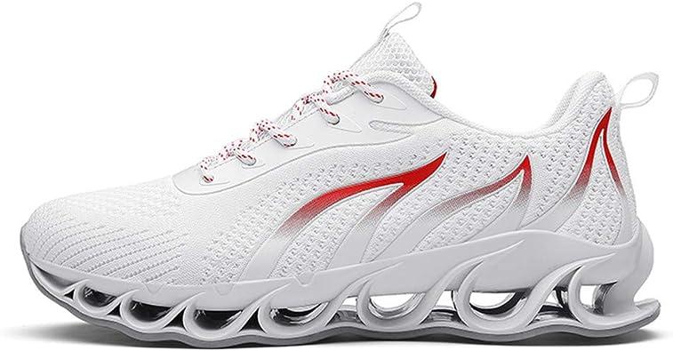 Logobeing Zapatillas Running Hombre Shoes Malla Informal Zapatillas de Deporte Transpirables Zapatillas Deportivas Trainers Deportivos Casuales Hombre (39, Blanco): Amazon.es: Zapatos y complementos