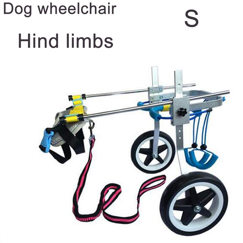MOIMK Pet Bike, Adjustable Dog Wheelchair, Dog Scooter, Disabled Dog, Assistant, Leg Exercise, Hind Leg Rehabilitation, Light Weight,S