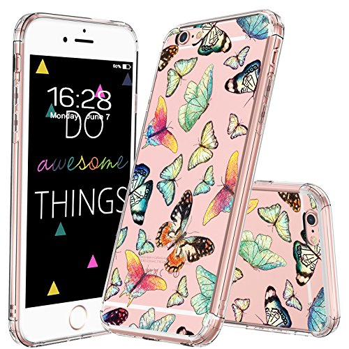 MOSNOVO Fashion Butterfly Transparent Protective