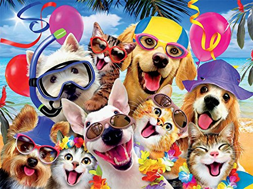Ceaco Beach Party Selfie Puzzle (550 Pieces) by Ceaco