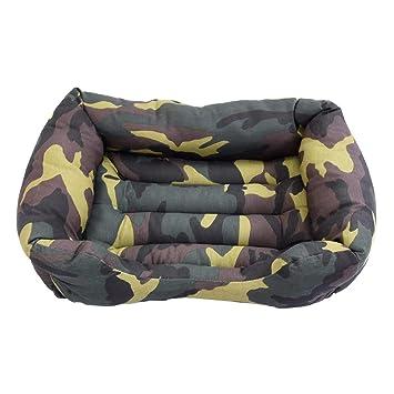 Cisne 2013, S.L. Oferta LIQUIDACION Camas para Perro y Gato Estampado Camuflaje Verde D 95 * 75cm: Amazon.es: Hogar