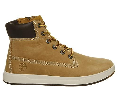 e0017e265de79 Amazon.com | Timberland Davis Square 6 Inch Boot Wheat Nubuck Junior Ankle  Boots | Shoes