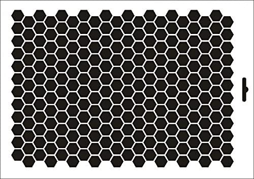 Stencil W-181 Hexagon S ~ UMR Wall Stencil