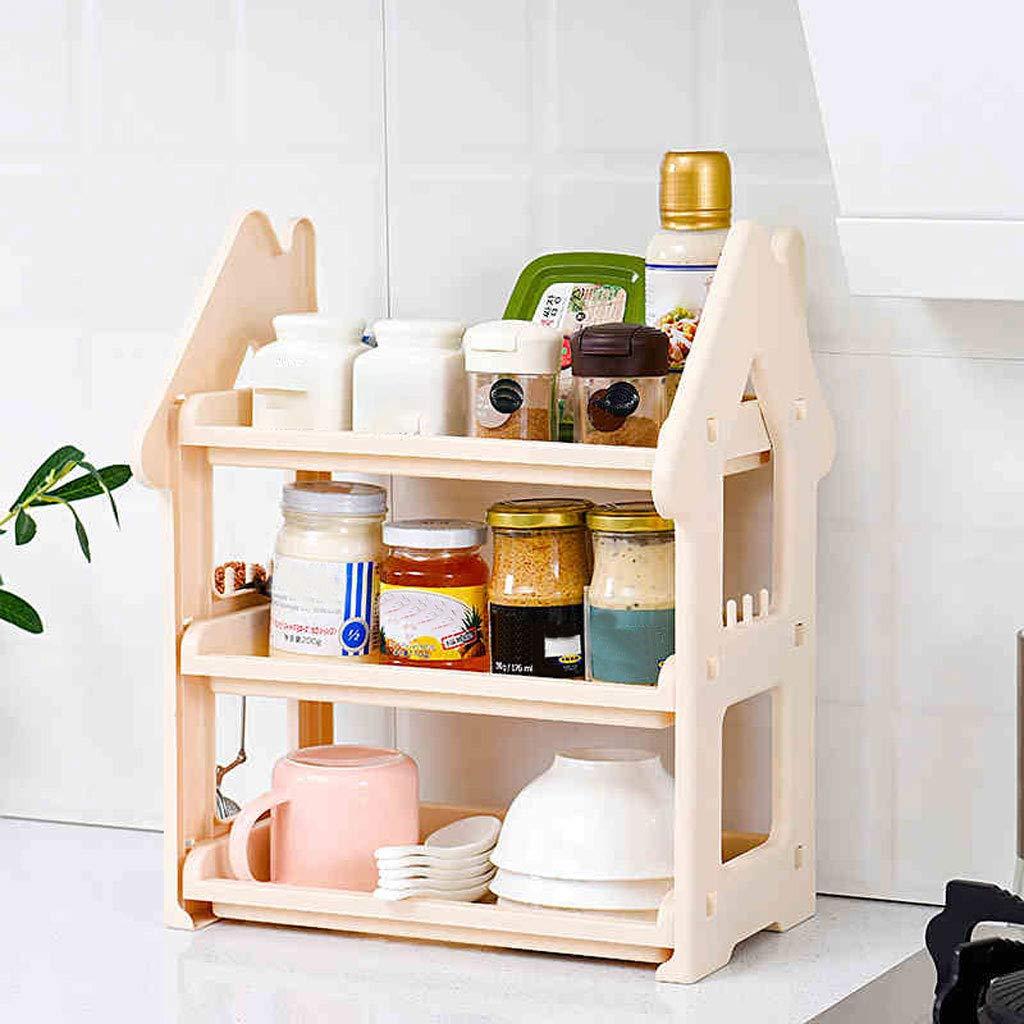 Color : Pink Storage Shelves Multi-Function Interior Design 31 * 16.7 * 38 cm Kitchen Living Room Send Friends Bedroom Hotel AnSuu Small House Shelves