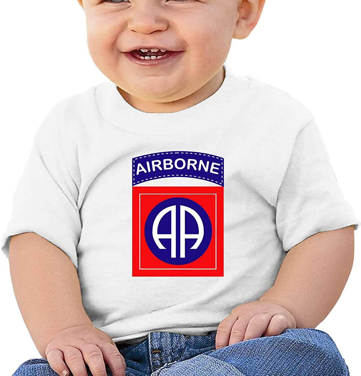 Zippem 82nd Airborne Division Short Sleeve T-Shirt Best for Baby Toddler//Infant Kids T-Shirt Close Skin Soft