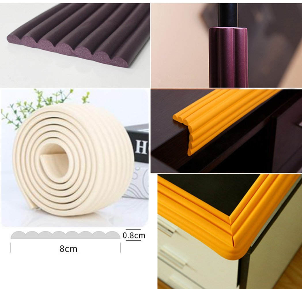 Edge & Corner Guards Pre-Taped Corners Child Safety Baby Proofing Desk Table Sharp Edges Protector Furniture Edge Corner Bumper Guard 2 Meter/6.5 Feet