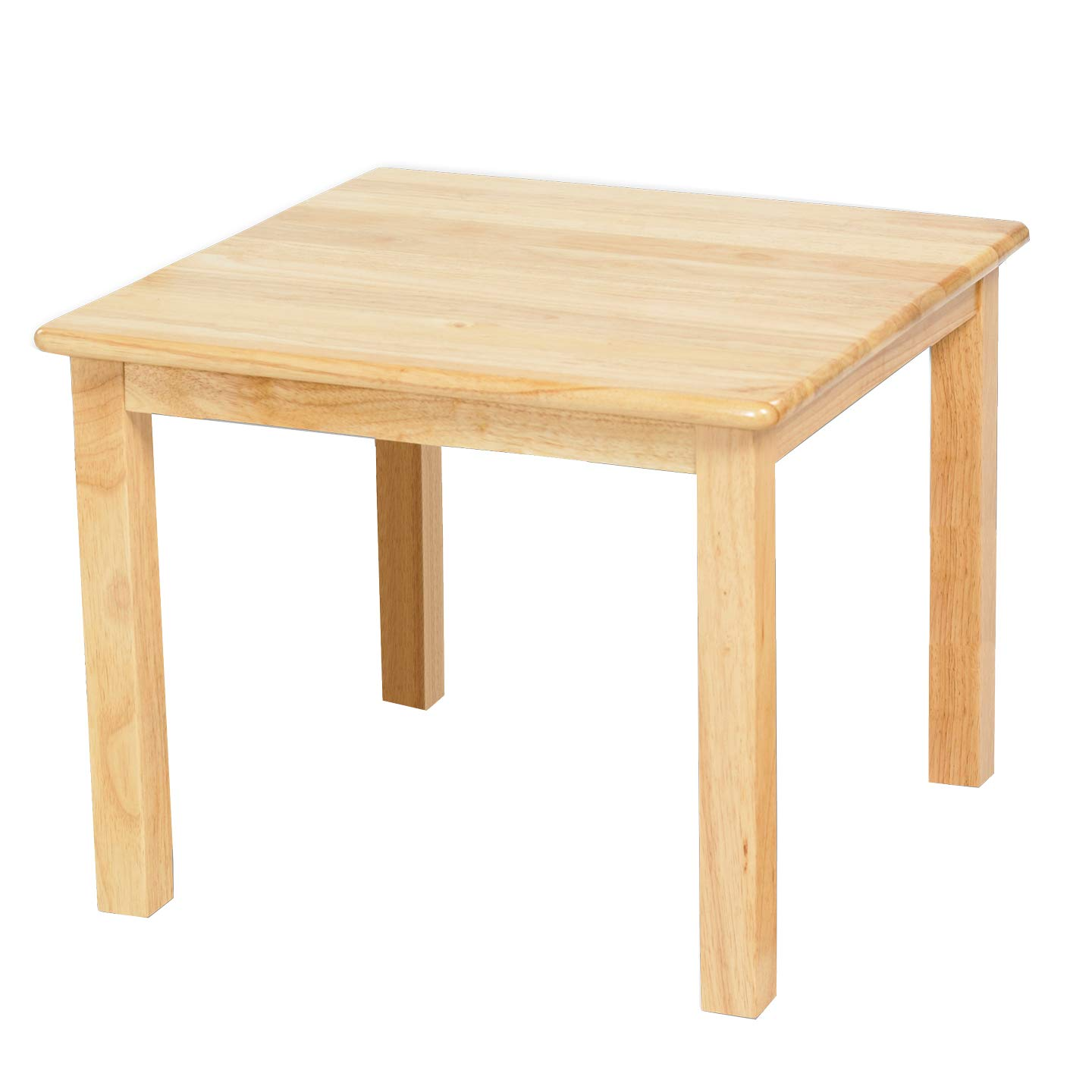 ECR4KidsDeluxe Hardwood Activity Play Table for Kids, Solid Wood Childrens Table for Playroom/Daycare/Preschool, 24 Inch Square, Natural Finish