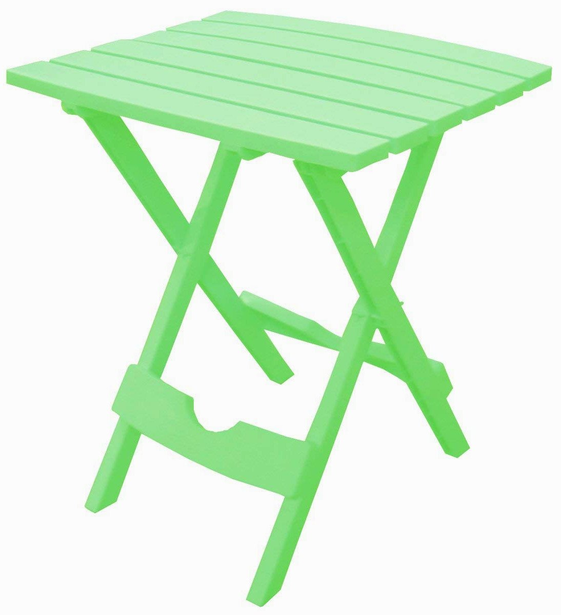 Slat Patio Table Plastic Folding Side Picnic Lightweight Small Square Fold Up Quick Easy Indoor Outdoor Camping Stand Light Camp Compact & eBook by Easy&FunDeals
