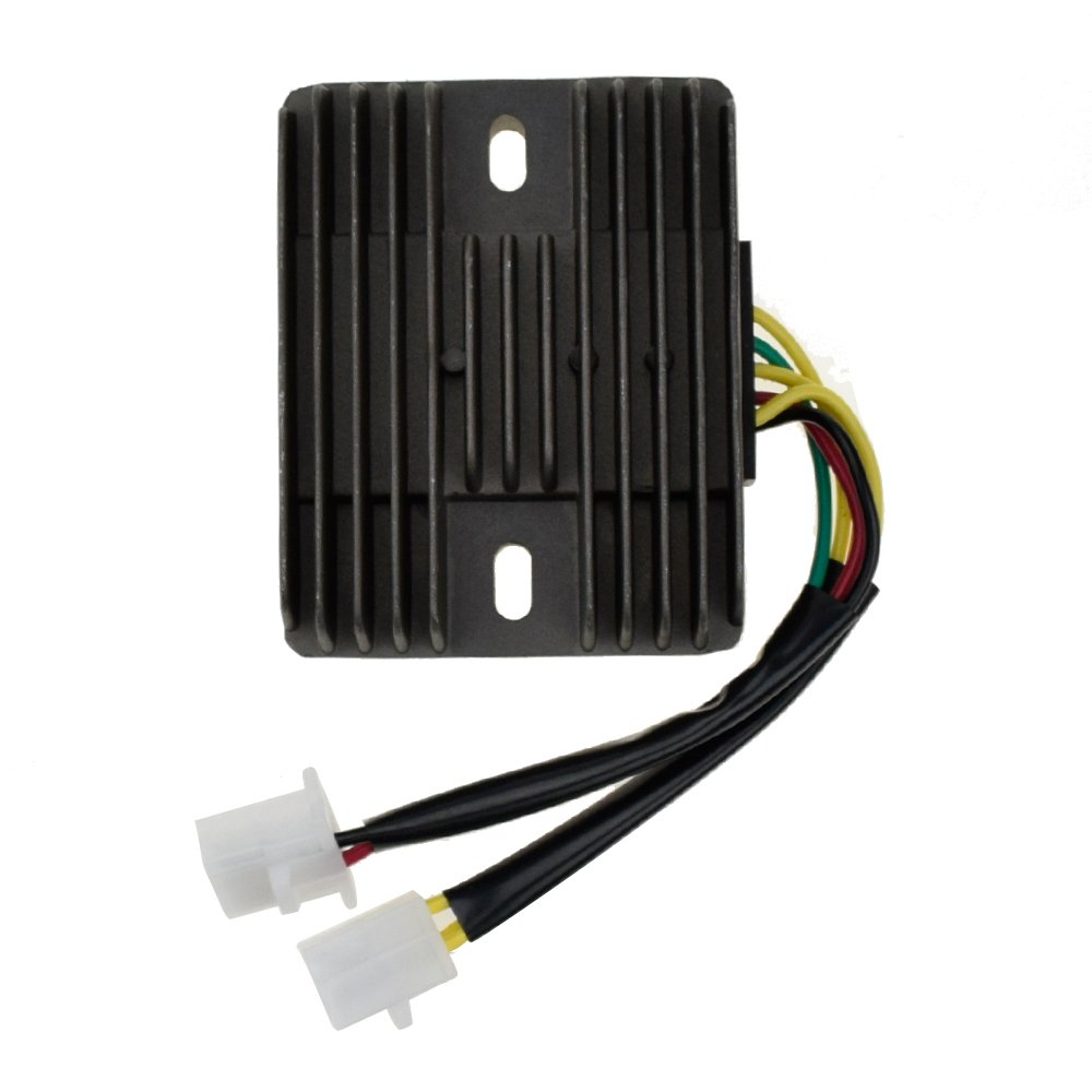 6 Wire Voltage Regulator Rectifier 6 Pin for Honda Helix CN250 CF250ccJonway YY250T Lance Duke Touring Hammerhead GT GTS SS Joner Kandi Carter Brother 250cc Scooter Moped Go Kart Parts by HIAORS