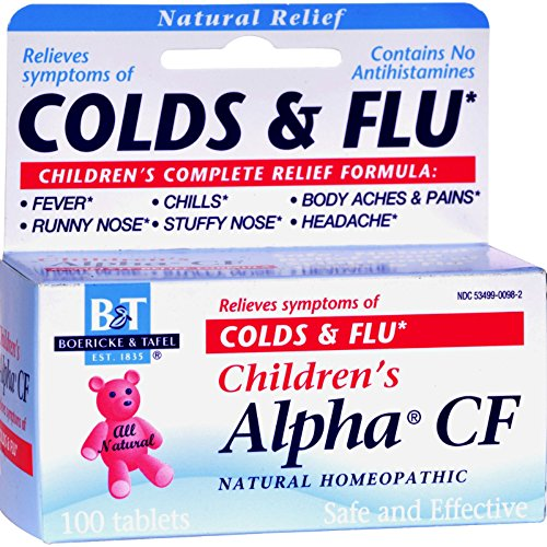 2Pack! Boericke and Tafel Children's Alpha CF - 100 Tablets Alpha Cf 100 Tab