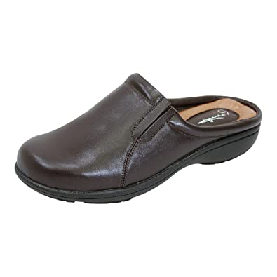 cfdf3b6c0e02 Peerage FIC Mary Women Extra Wide Width Comfort Leather Clog Brown 5
