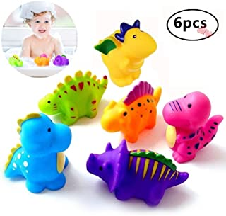 DQTYE 6Pcs Bath Toy Floating Boats, Baby Soft Squirt Bathing Toys Bathtub Cartoon PU Rubber Ship Water Game Learning Educational Toy For Kids Toddlers