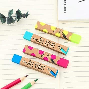 Kawaii Stationery Rectangle 2B Pencil Rubber Eraser Solid Color Soft Eraser best