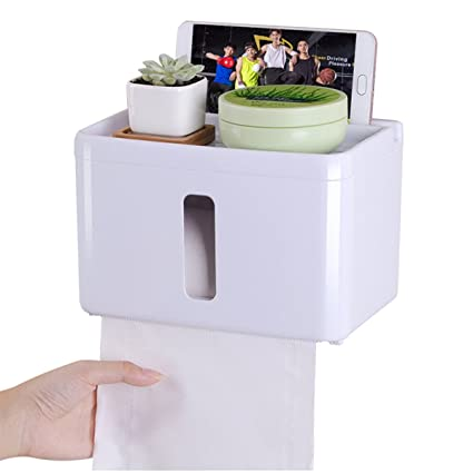 Incredible Uuouu Multifunctional Waterproof Tissue Box Holder Bathroom Roll Paper Box Toilet Paper Box Holder White Download Free Architecture Designs Lectubocepmadebymaigaardcom