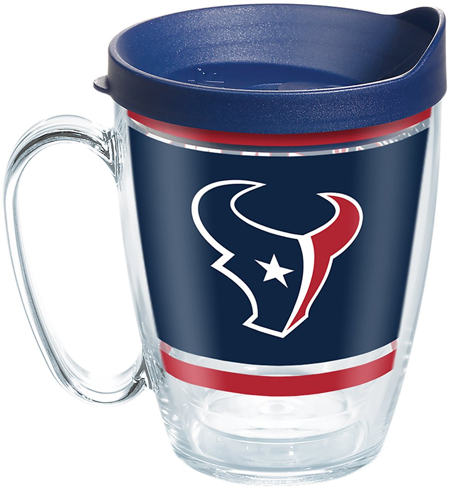 Tervis 1257362 NFL Houston Texans Legend Tumbler with Wrap and Navy Lid 16oz Mug Clear