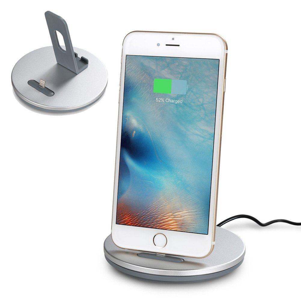 Amazon.com: Outtek [2 in 1] iPhone Charging Dock Station, Aluminum ...