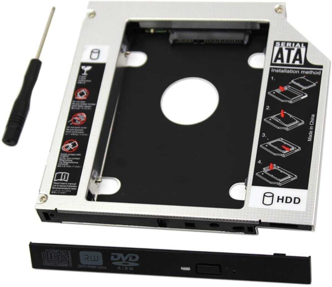 Caddy para disco SATA en CD/DVD Drive 9.5mm