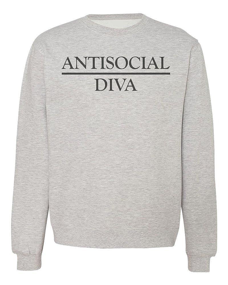 IDcommerce Antisocial Diva Proud to Be Mens Womens Unisex Sweatshirt