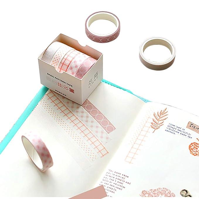 Juego de cintas Washi de 5 rollos - Cinta adhesiva japonesa ...