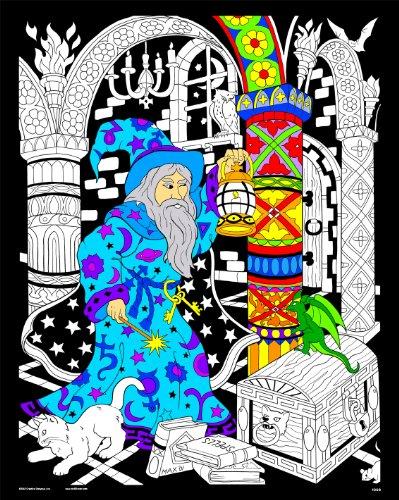 Stuff2Color Wizard Lantern - 16x20 Fuzzy Velvet Poster -