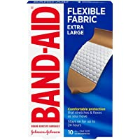 Band-Aid Brand Adhesive Bandages, Extra Large, 1 3/4 Inches X 4 Inches, 10 Count (Pack of 2)