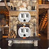 Rikki Knight 8917 Outlet Rustic Fireplace Design Outlet Plate