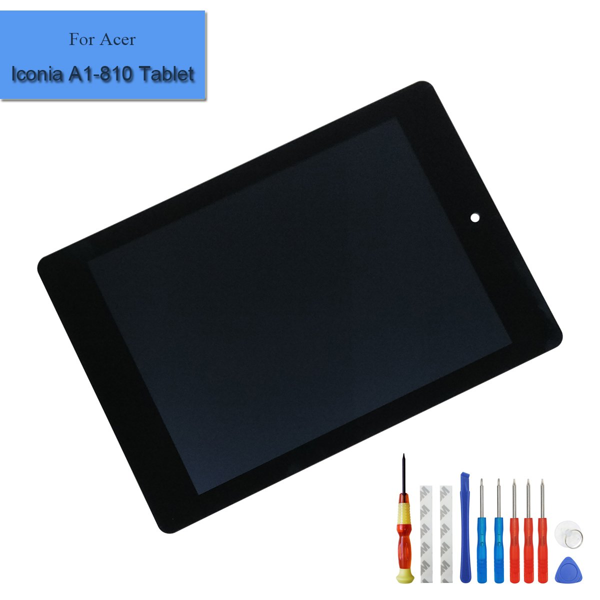 for Acer Iconia Tablet A1-810 Replacement LCD Touch Screen Display Assembly + Tools