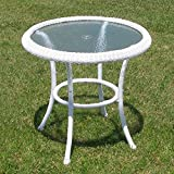 Cheap Harbor All Weather Wicker Bistro Table