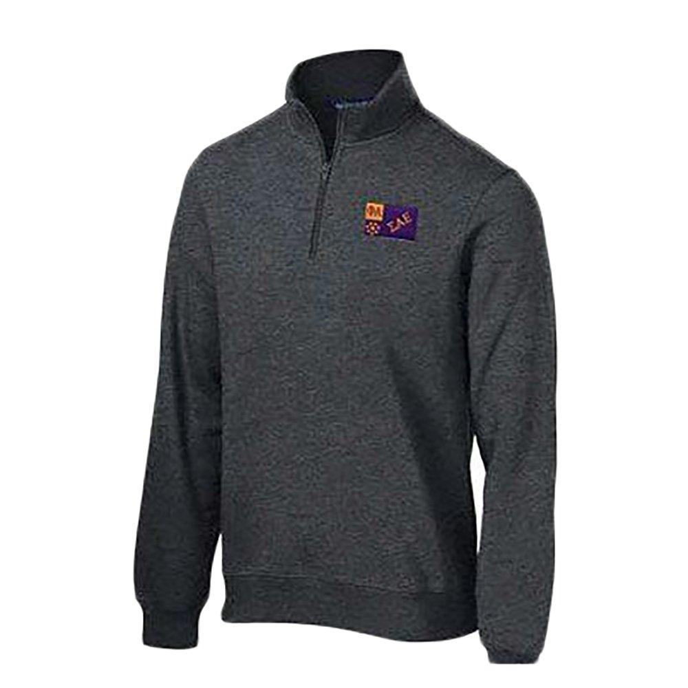 Sigma Alpha Epsilon SAE Flag Patch Quarter Zip Pullover