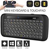 Best Mini Keyboard For PC Macs - Mini Wireless Keyboard TNAIVE Mouse Combo, Adjustable Backlit Review