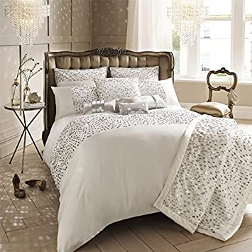 KYLIE MINOGUE EVA OYSTER SATIN DOUBLE 200TC COTTON 7 PIECE BEDDING ...