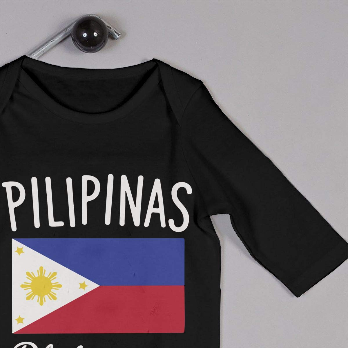U99oi-9 Long Sleeve Cotton Rompers for Unisex Baby Cute Philippines Flag Onesies