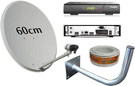 Kit Antena PARABOLICA 60CM TECATEL + Receptor ...
