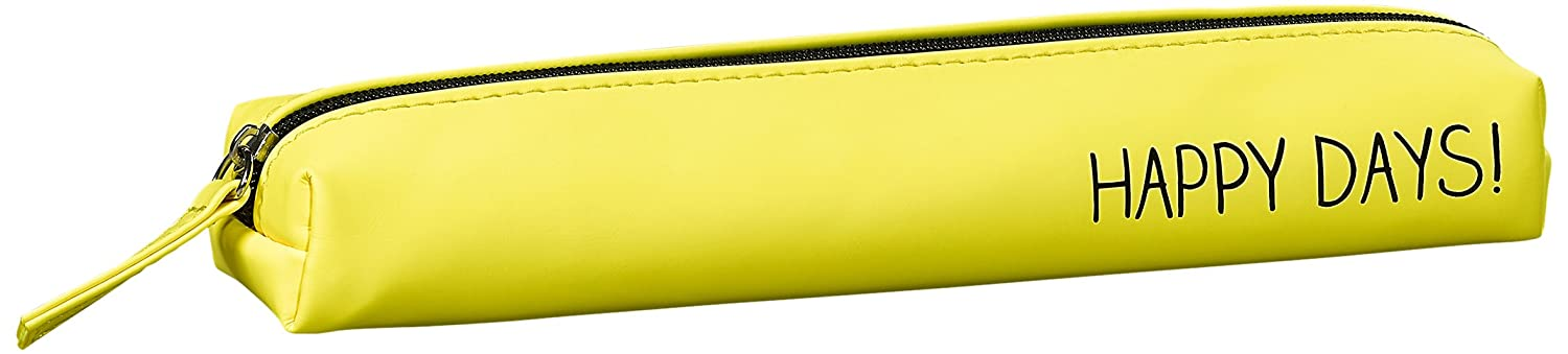 Happy Jackson 'Happy Days!' Slim Pencil Case | Yellow | Matte Finish Wild and Wolf HAP577